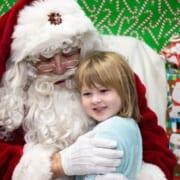 Santa Holding a smiling girl